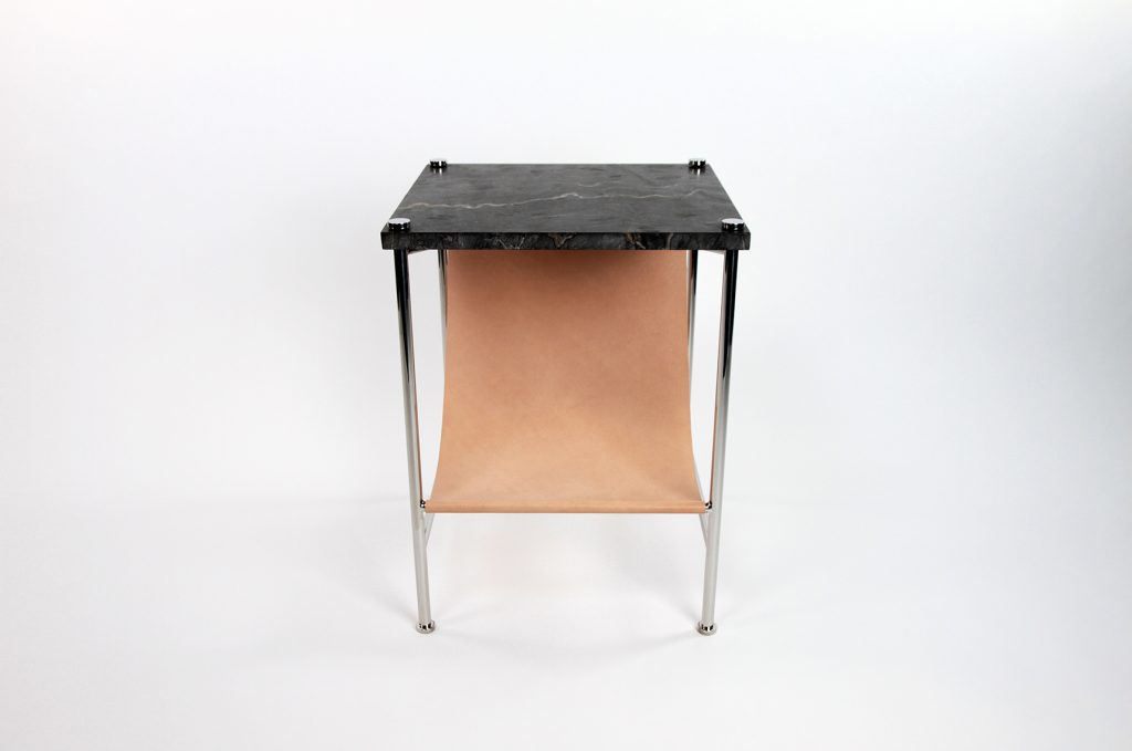 The Leather Sling Side Table Is The Perfect Solution For Keeping Magazines  And Books Tidy While Having Useable Tablespace. Made Of Stainless Steel And  Tan ...